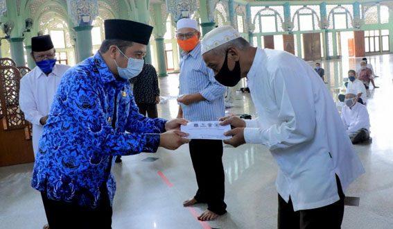 500 Marbot di Kota Tangerang Terima Bantuan Baznas Provinsi Banten