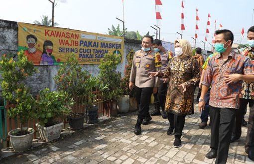 Muspida Kabupaten Serang Cegah Covid-19 Lewat Kampung Tangguh Nusantara Kalimaya 2020