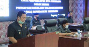 Wali Kota Tangerang Sampaikan Penjelasan Tiga Raperda Pada RapatParipurnaDPRD