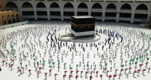 1000 Jamaah Haji di Tengah Pandemi, Prosesi Tawaf Qudum dengan Physical Distancing.