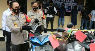 Polresta Tangerang Ringkus Dua Pelaku Curanmor di Cikupa