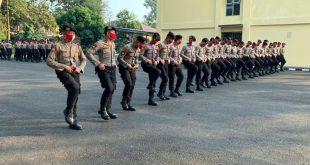 Tingkatkan Kemampuan Personel, Ditsamapta Polda Banten Gelar Latihan Dalmas