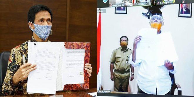 PT SMI Dengan Pemprov Banten Menandatangani Perjanjian Kerja Sama Pinjaman Pemulihan Ekonomi Nasional (PEN)