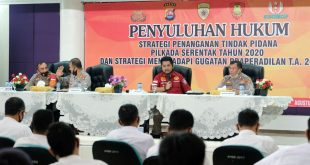 Bidkum Polda Banten Lakukan Giat Penyuluhan Hukum Di Polresta Tangerang