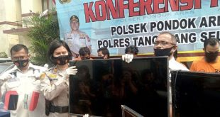 Polisi Bekuk Komplotan Pencuri Puluhan Unit TV di Transmart Pondok Jaya