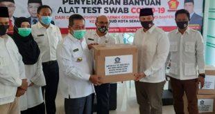 Partai Gerindra Banten Berikan Bantuan 1.000 Alat PCR ke RSUD Kota Serang