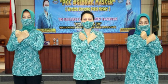 Gebrak Masker PKK Terjunkan Kader Hingga Pelosok Desa