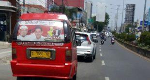 Stiker Pilkada Calon Walikota Cilegon di Angkot Akan Diberantas