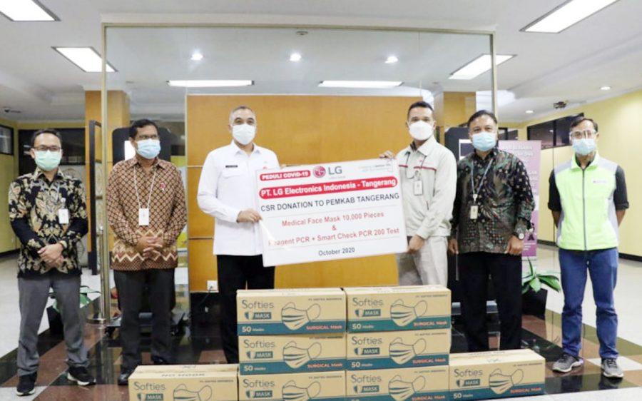 Pemkab Tangerang Terima Bantuan Peralatan Medis dari PT LG Dan PT Hilon Indonesia