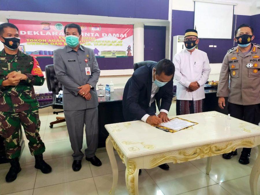 Polda Banten Gelar Deklarasi Cinta Damai Bersama Forkopimda dan Tokoh Kabupaten