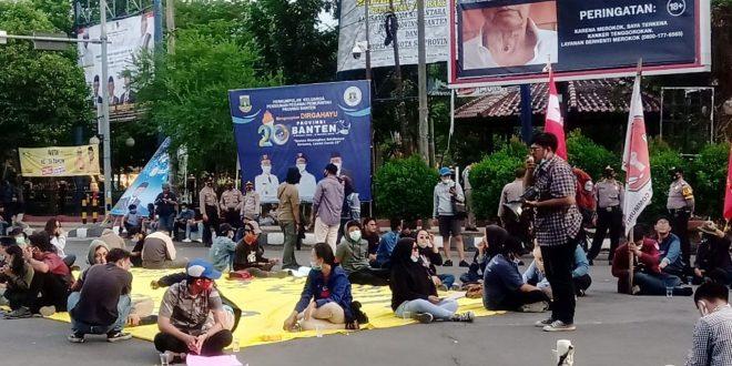 Geger Banten Terus Menolak UU Cipta Kerja dan Meminta di Sahkannya RUU Kekerasan Seksual