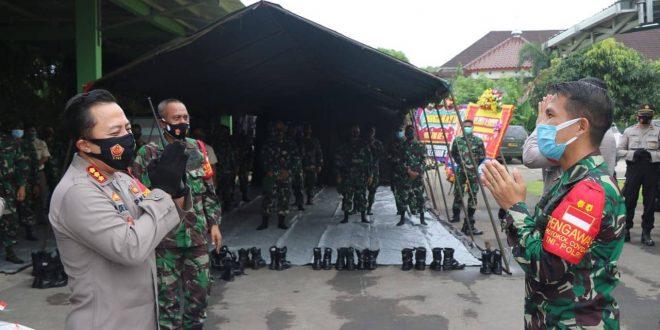 Kapolresta Tangerang Sambangi Markas Kodim Tigaraksa DAlam Rangka HUT TNI ke-75