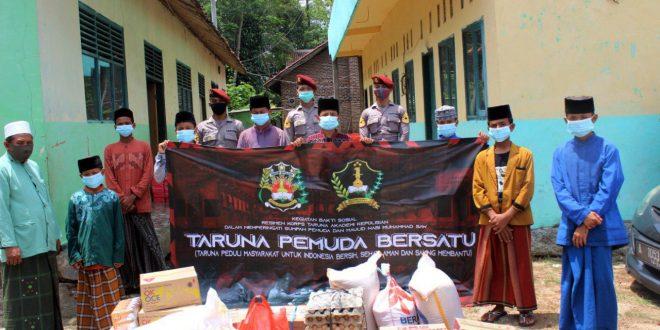Taruna Akpol Polda Banten Bakti Sosial dan Bagikan Masker di Pesantren An-Nur