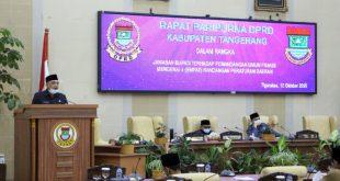 Bupati Tangerang Menjawab Pandangan Umum Fraksi-Fraksi DPRD Tentang 4 Raperda