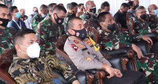 Kapolda Banten Dampingi Pangdam III/Siliwangi launching Kapal Babinsa Merah Putih