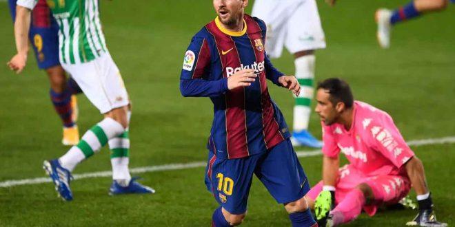 Barcelona Vs Real Betis 5-2: Messi Cetak Dua Gol