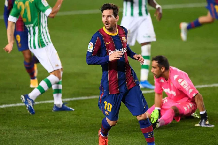 Barcelona Vs Real Betis 5 2 Messi Cetak Dua Gol