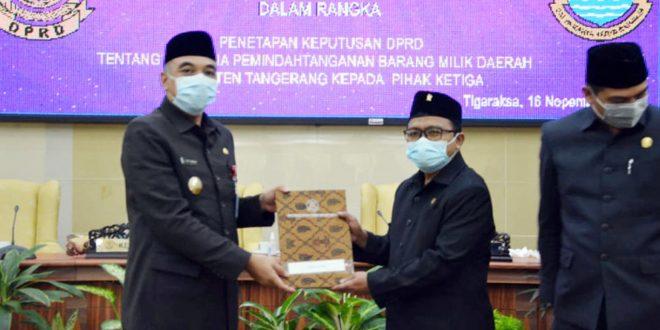 DPRD Kabupaten Tangerang Setujui Pemindahtanganan Aset Daerah