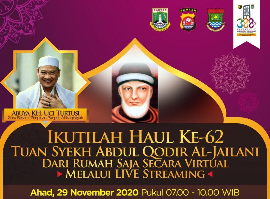Jamaah Dihimabau untuk Ikuti Haul Akbar Syekh Abdul Qodir Al-Jaelani MelaluiLive Streaming