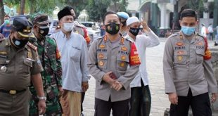 Kapolresta Tangerang Cek Kesiapan Prokes Haul Virtual di Ponpes Abuya Uci Al-Istiqlaliyyah
