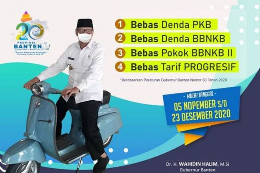 Mulai Hari Ini Banten Bebaskan Denda Pajak Kendaraan Bermotor
