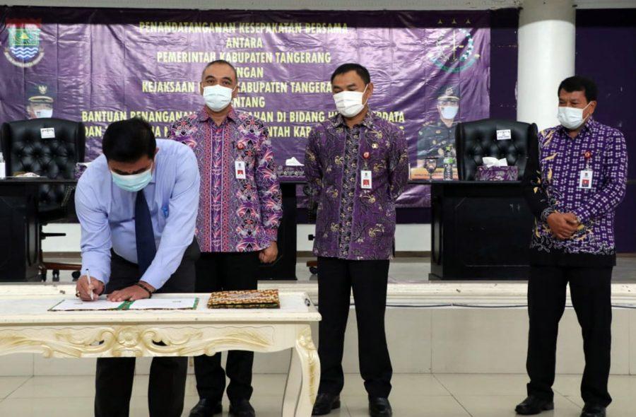 Bupati Tangerang dan Kejari Kerjasama Penanganan Permasalahan Bidang Hukum Perdata dan TUN