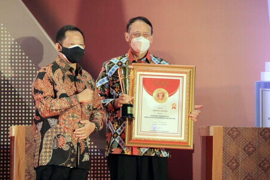 Pemprov Banten Raih Anugerah Provinsi Terinovatif pada IGA 2020 Kemendagri