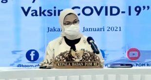 BPOM Setujui Penggunaan Darurat Vaksin COVID-19 Sinovac
