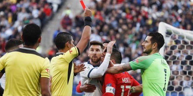 Messi Kartu Merah Setelah Memukul Villalibre, Barcelona Takluk dari Bilbao