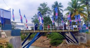 Majlis Ta'lim XL Axiata Wakafkan Jembatan Talagahiang di Cipanas Lebak