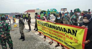 Posko Kampung Baru di Lahan Tol JORR 2 Dibongkar Petugas