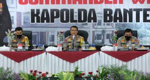 Awal Tugas, Kapolda Banten Irjen Pol Dr Rudy Heriyanto, SH, MH , M.B.A Berikan Commander Wish