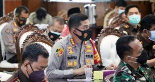 Kapolresta Ikuti Rakor Pembahasan PPKM Tangerang Raya di Pendopo Bupati Tangerang