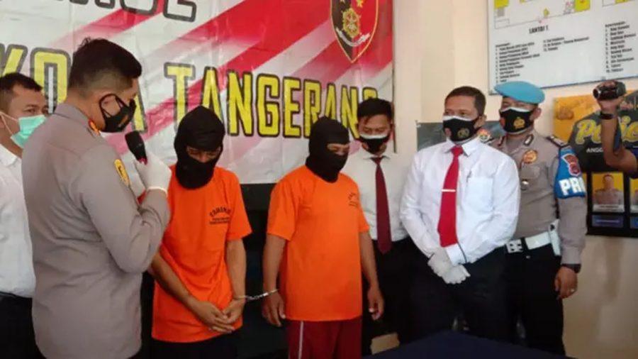 Polresta Tangerang Meringkus Dua Pelaku Curanmor di Pasar Kemis