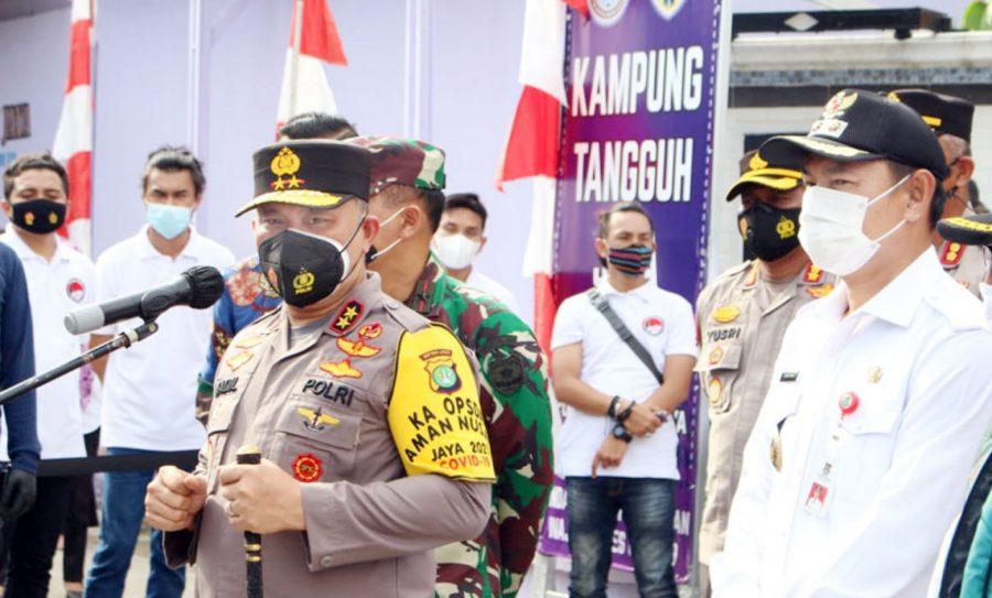 Wabup Tangerang Bersama Kapolda Metro Jaya Kunjungi Kampung Tangguh Jaya Kelapa Dua