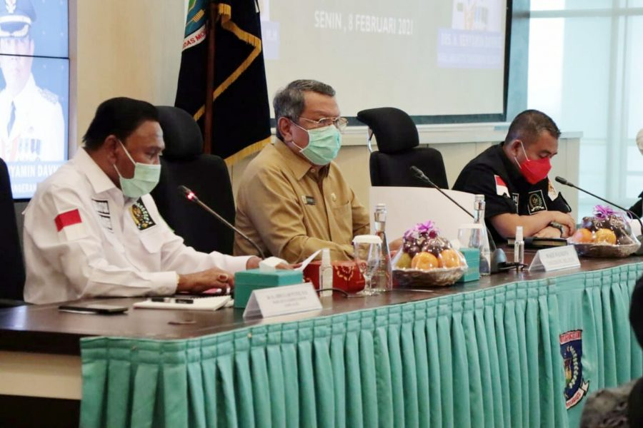 Benyamin Davnie Terima Kunjungan DPD RI Bahas Penanganan Bencana Daerah