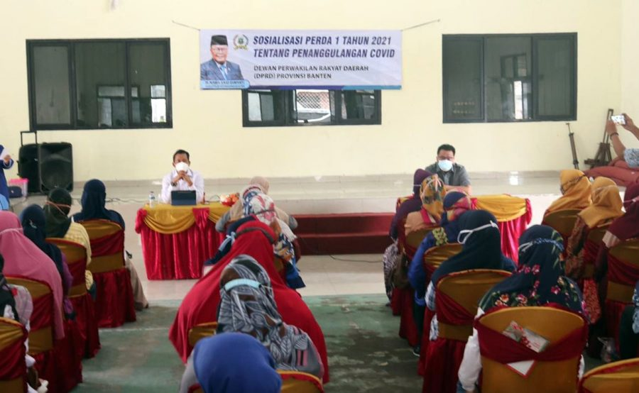 DPRD Banten Sosialisasikan Perda Tentang Penanggulangan Covid-19 di Kutabaru