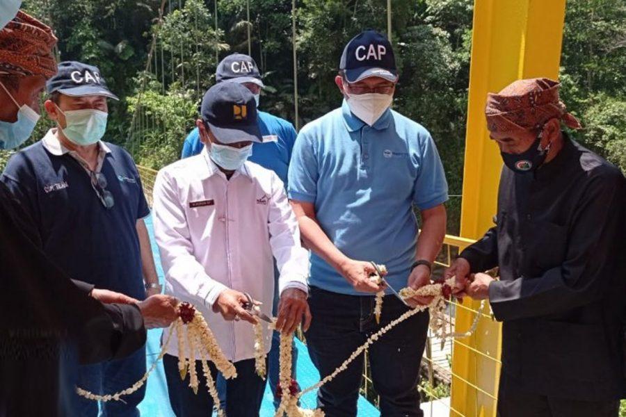 Pembangunan Jembatan Gantung di Pedalaman Lebak Disambut Positif Warga