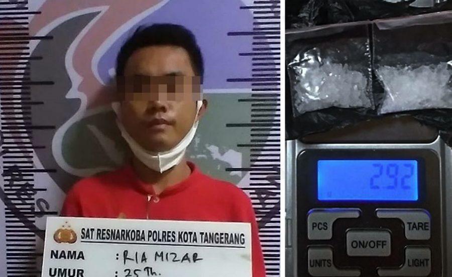 Polresta Tangerang Ringkus Seorang Pengedar Sabu di Pasar Kemis