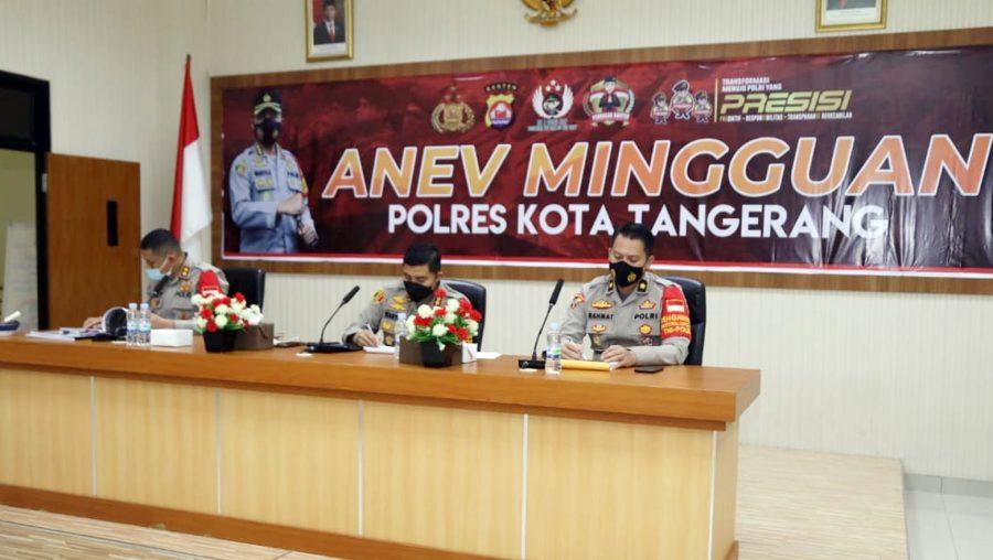 Kapolresta Tangerang Laksanakan Analisa dan Evaluasi Kinerja Mingguan