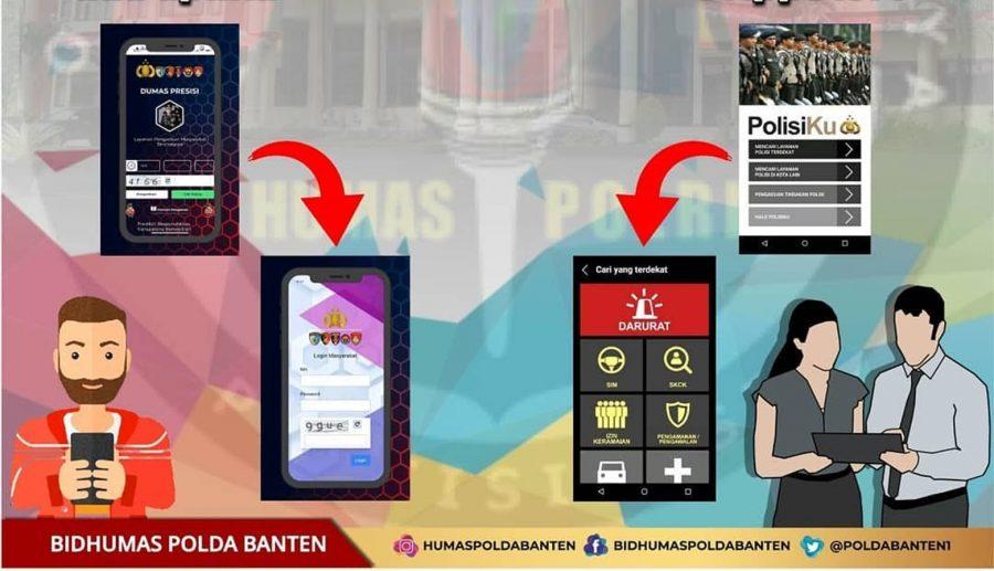 Polda Banten Sosialisasikan Aplikasi Pengaduan Masyarakat e-Dumas