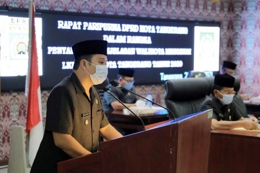 Wali Kota Tangerang Sampaikan LKPJ Tahun 2020 Dalam Rapat Paripurna DPRD