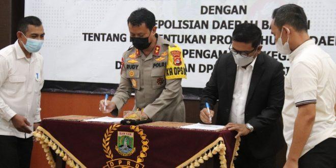 DPRD Bersama Polda Banten Buat Nota Kesepahaman Kerjasama Bantuan Pengamanan
