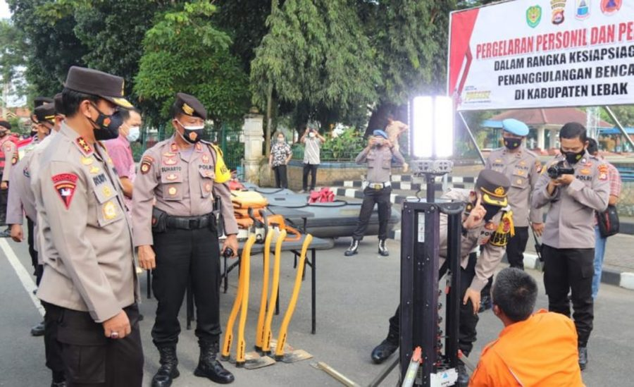 Kapolda Banten Cek Kesiapsiagaan Personel Penangulangan Bencana di Kabupaten Lebak