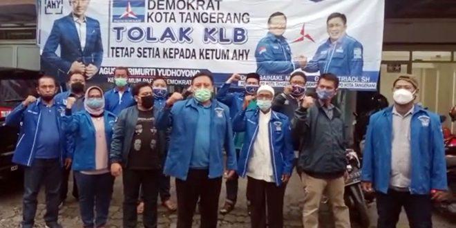 Tetap Loyal, DPC Partai Demokrat Kota Tangerang Nyatakan Menolak Hasil KLB Deli Serdang