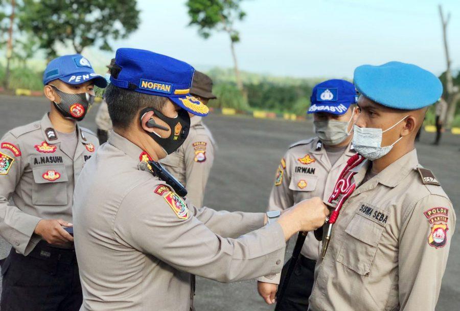 Polda Banten Gelar Pengukuhan dan pelantikan Siswa Diktuk Bintara Polri TA.2020/2021