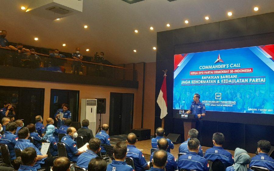 34 Ketua DPD Partai Demokrat Ucapkan Janji Setia ke AHY dan Tolak KLB