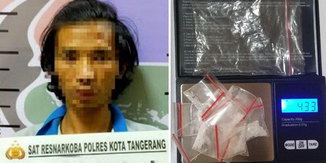 Polresta Tangerang Berhasil Meringkus Seorang Pengedar Sabu