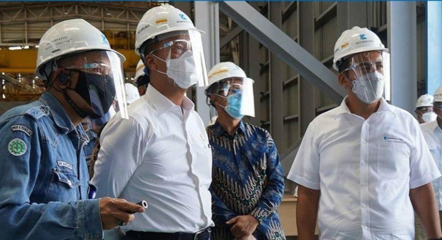 Menteri Perindustrian Kunjungi Pabrik Baru Krakatau Steel yang akan Diresmikan Presiden