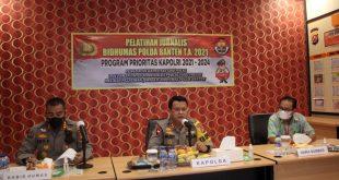 Kapolda Banten Buka Pelatihan Manajemen Media Jurnalisme Kepolisian